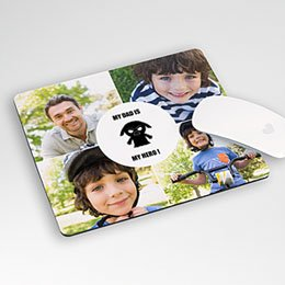 Personalisierte Foto-Mousepad - Du bist mein Vater - 0