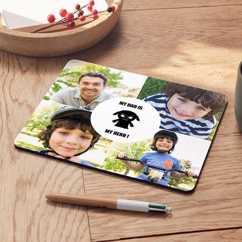Personalisierte Foto-Mousepad Du bist mein Vater