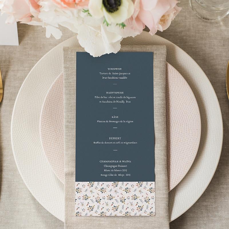 Menükarten Hochzeit Millefiori gratuit