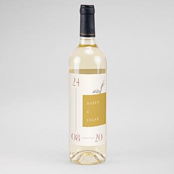 Flaschenetiketten Wein Perfekte Union