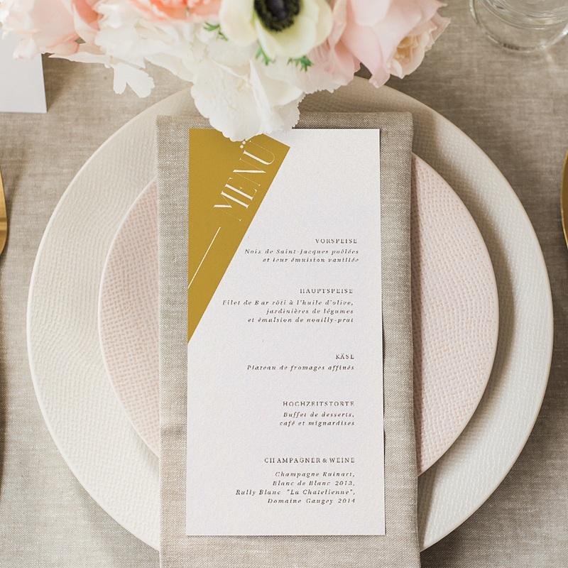 Menükarten Hochzeit Perfekte Union gratuit