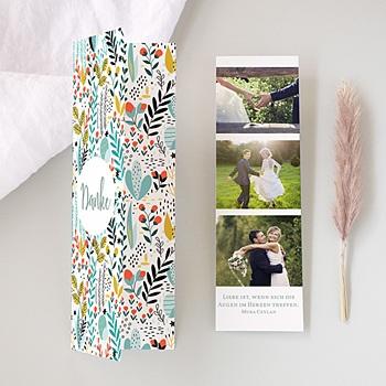 Dankeskarten Hochzeit Landhochzeit Wilde Blumen