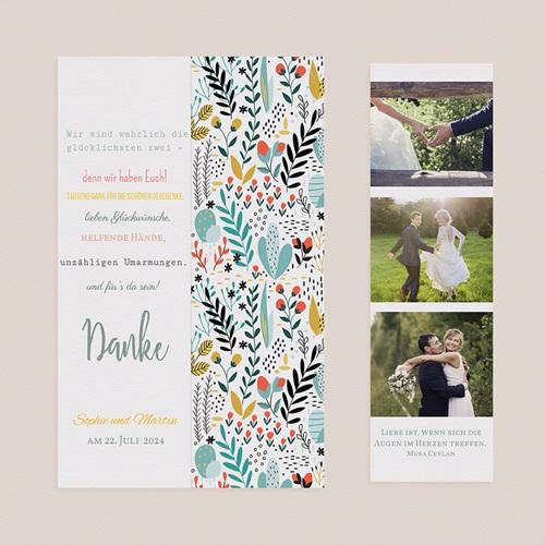 Rustikale Dankeskarten Hochzeit Wilde Blumen pas cher