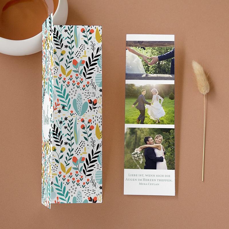 Rustikale Dankeskarten Hochzeit Wilde Blumen