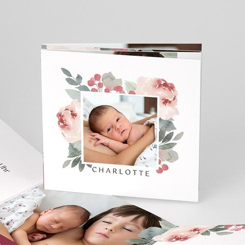Geburtskarten für Mädchen Blumen Aquarell