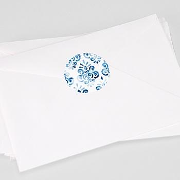 Aufkleber Hochzeit Portugiesisch blau