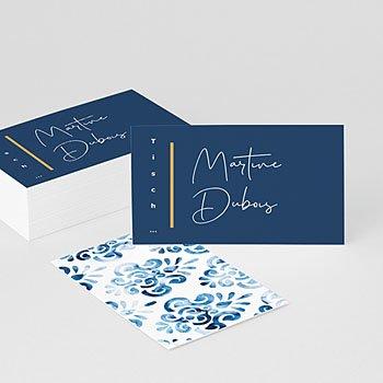 Tischkarten Hochzeit Portugiesisch blau