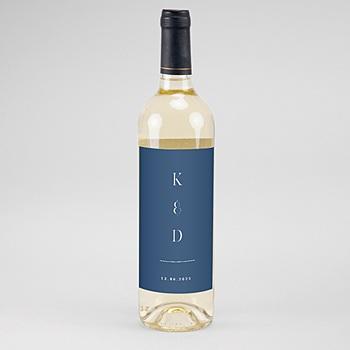 Flaschenetiketten Wein Portugiesisch blau