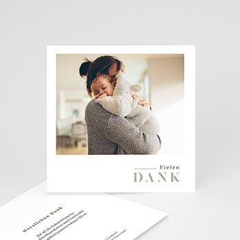 Dankeskarten Geburt mit Foto  Rustic Love