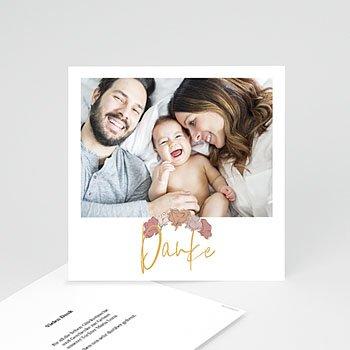 Dankeskarten Geburt mit Foto  Bom Dia