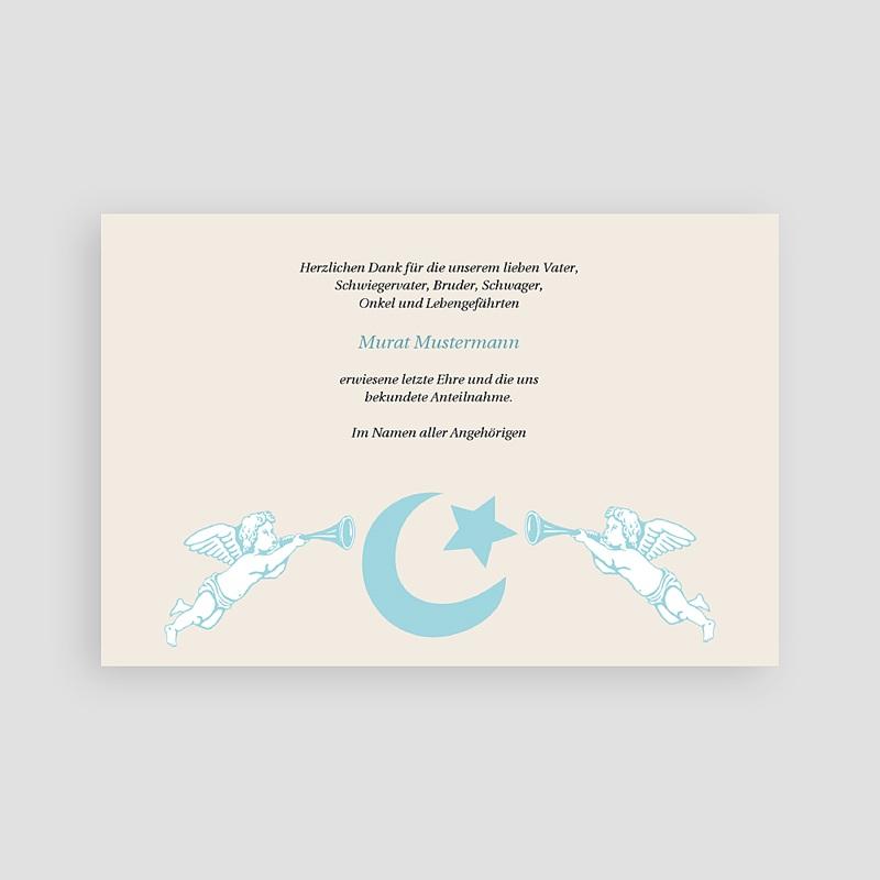 Muslimisch Dankeskarten Trauer Engel und Halbmond pas cher
