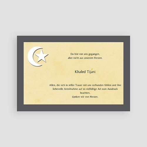 Muslimisch Dankeskarten Trauer Mondsichel auf beigem Hintergrund pas cher
