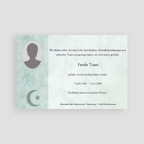 Muslimisch Dankeskarten Trauer Yasin - grün pas cher