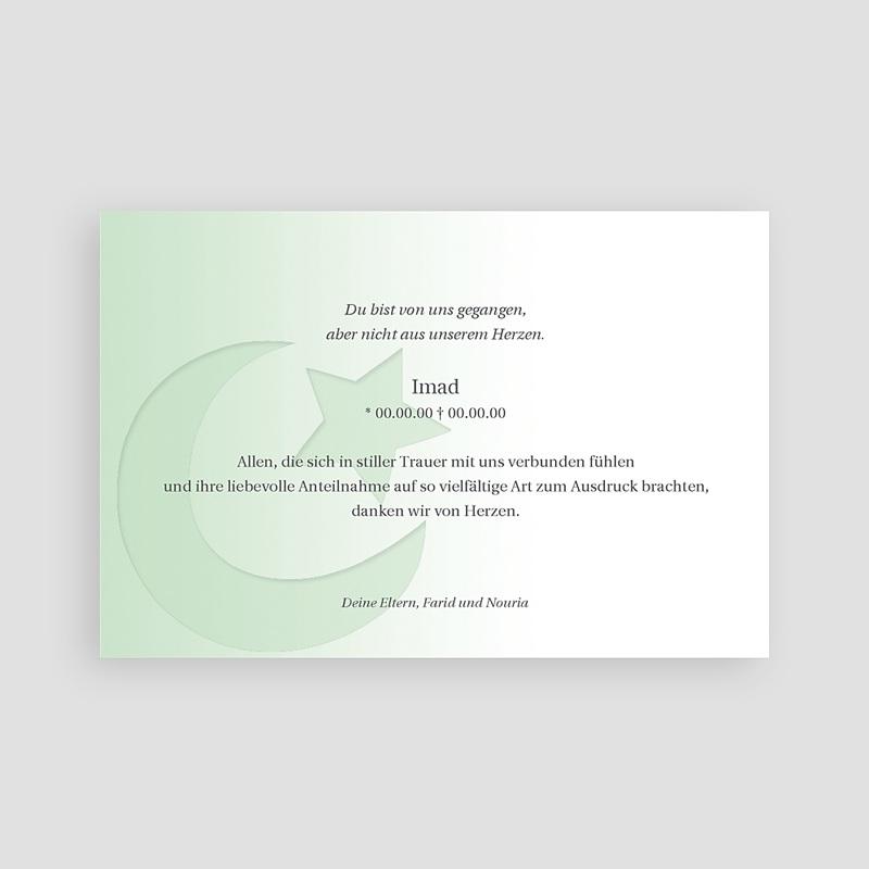 Muslimisch Dankeskarten Trauer Shâhâda - 1 pas cher