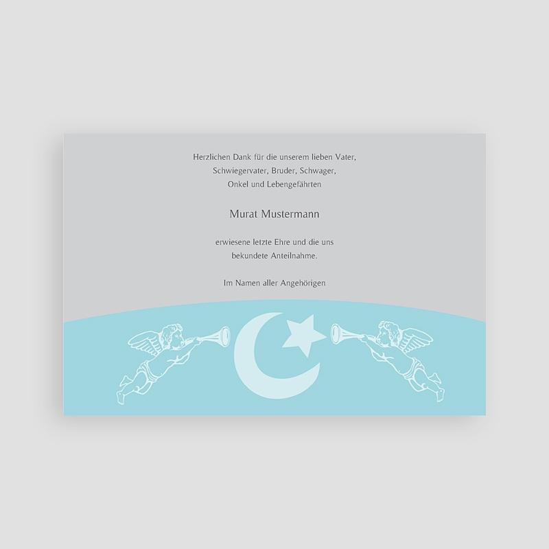 Muslimisch Dankeskarten Trauer Blaue Engel pas cher
