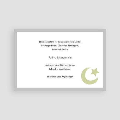 Muslimisch Dankeskarten Trauer Dhakkir - Grün pas cher