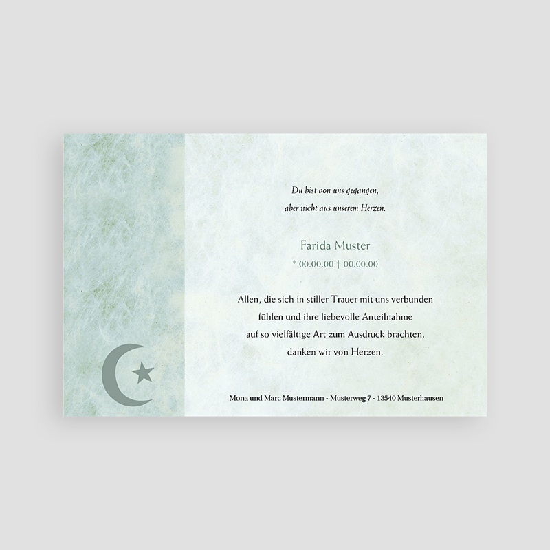 Muslimisch Dankeskarten Trauer Yasin Foto pas cher