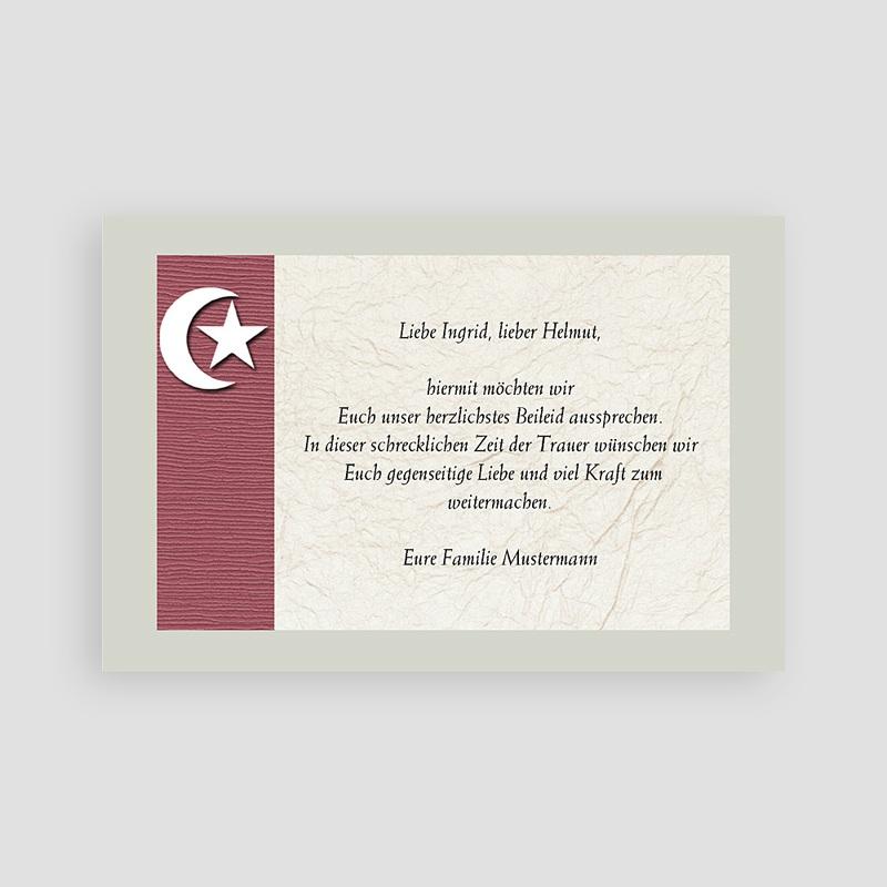 Muslimisch Dankeskarten Trauer Mondsichel braun pas cher