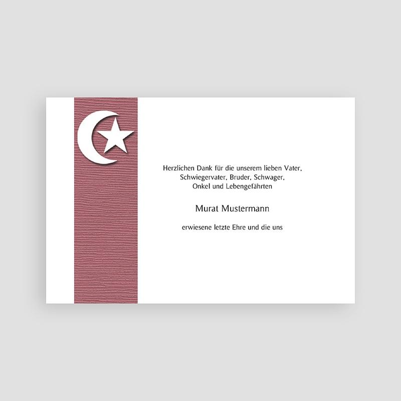 Muslimisch Dankeskarten Trauer Mondsichel - Beige pas cher