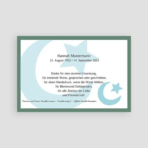 Muslimisch Dankeskarten Trauer Mond und Sichel - Blau pas cher