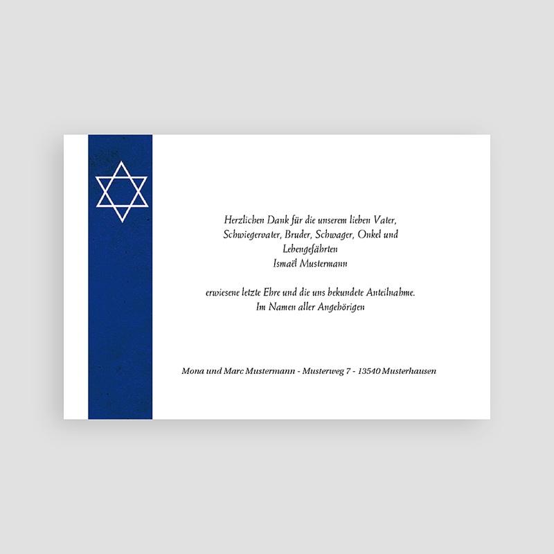 Trauer Danksagung israelitisch Jüdisches Glaubensbekenntnis pas cher