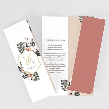 Dankeskarten Hochzeit Landhochzeit Tropisch Böhmisch