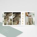 Rustikale Dankeskarten Hochzeit Aquafloral lang 3 Fotos