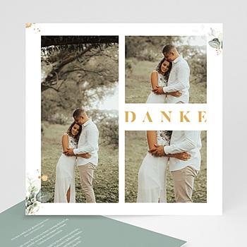 Dankeskarten Hochzeit Landhochzeit Aquafloral quadratisch