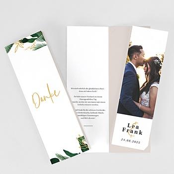 Dankeskarten Hochzeit Landhochzeit Tropischer Garten