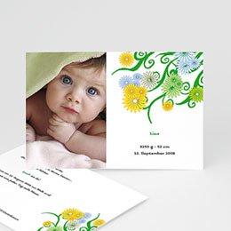 Karten Geburt Blumenmuster