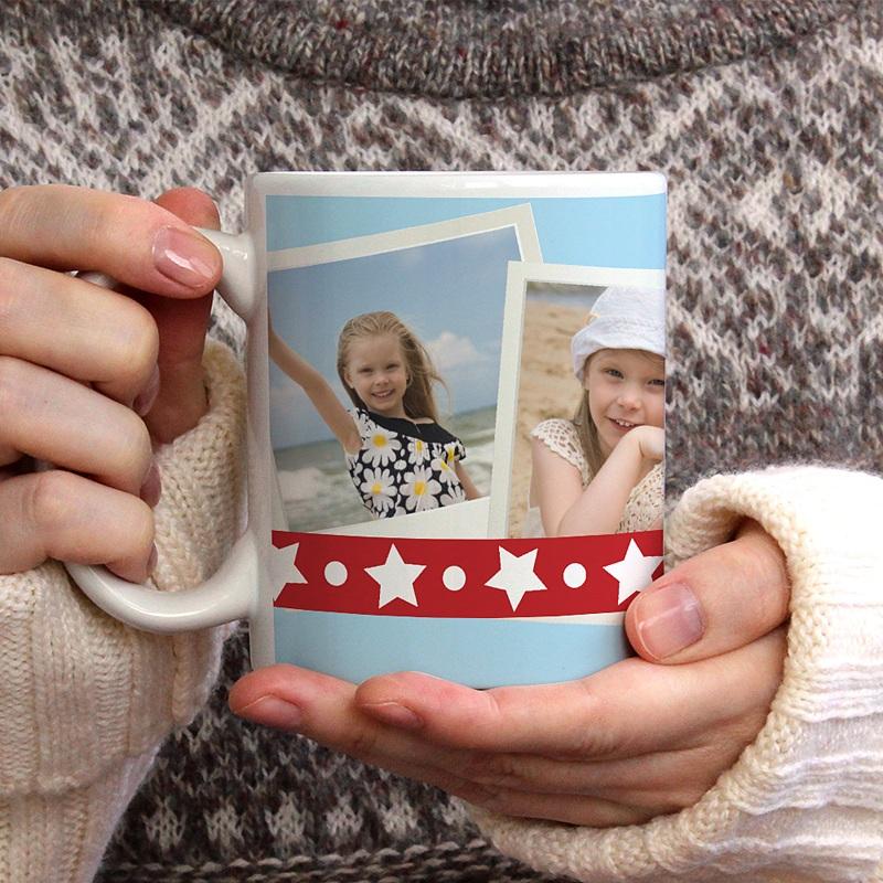 Personalisierte Fototassen Weihnachtskarte gratuit