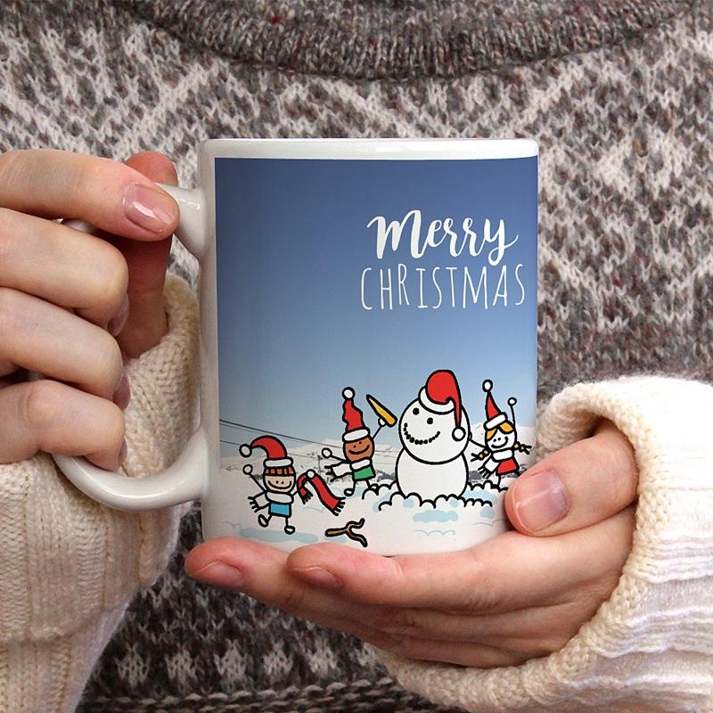 Personalisierte Fototassen Weihnachtszauber gratuit