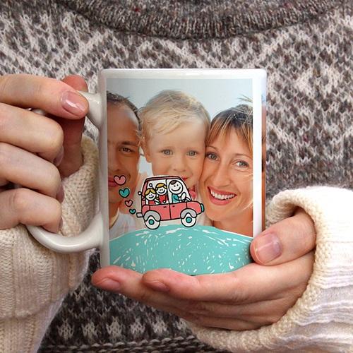 Personalisierte Fototassen Vatertag gratuit