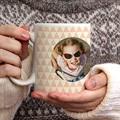 Personalisierte Fototassen Zickzackmuster rosa gratuit