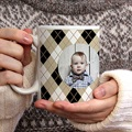Personalisierte Fototassen Lindgrünes Muster gratuit