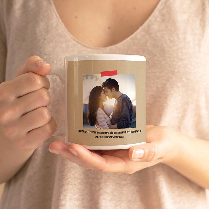Personalisierte Fototassen Amor gratuit