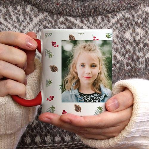 Personalisierte Fototassen Weihnachten Joyful Season gratuit