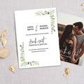 Rustikale Hochzeitseinladungen Blatt Dekoration