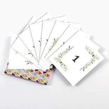 Tischkarten Hochzeit Blatt Dekoration