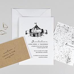 Originelle Hochzeitskarten  Magic Circus