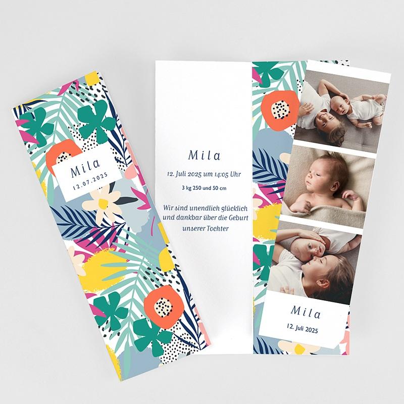 Geburtskarten für Geschwister Tropical Spirit