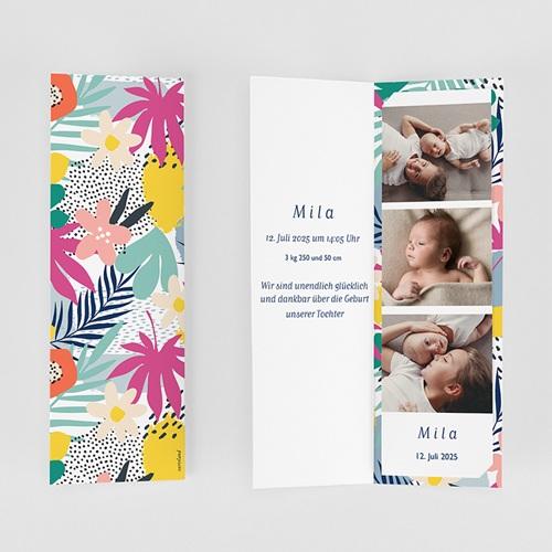 Geburtskarten für Geschwister Tropical Spirit gratuit