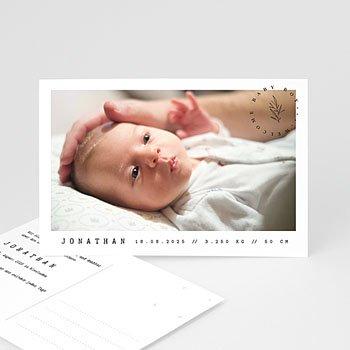 Geburtskarten für Mädchen Ansichtkarte baby