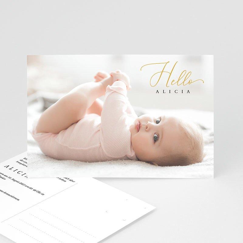 Geburtskarten für Mädchen Ansichtkarte Hello