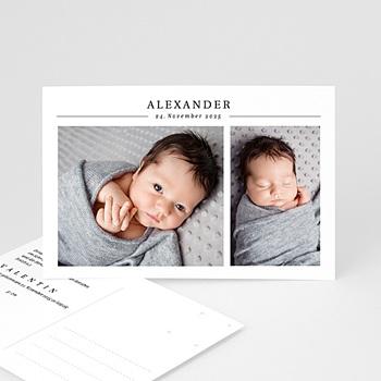 Geburtskarten für Jungen Zwei Fotos