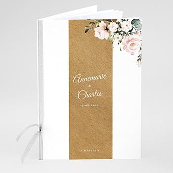 Kirchenheft zur Hochzeit individuell gestalten Romantisch Kraft & Blumen