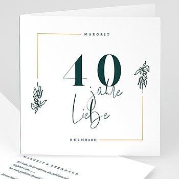 Silberhochzeit und goldene Hochzeit  Rubinhochzeit - 40 Jahre