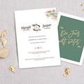Originelle Hochzeitseinladungen Tropische Krone