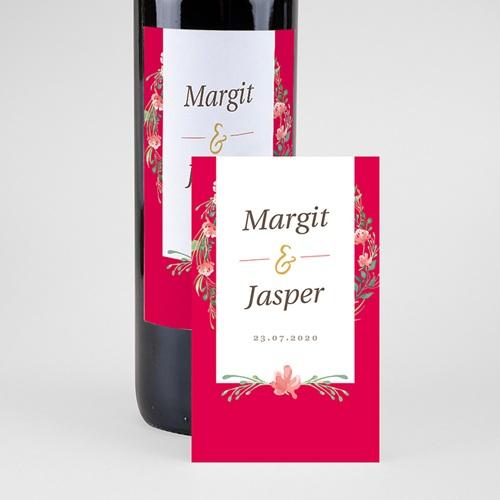 Wein Flaschenetiketten Hochzeit Tropische Krone pas cher