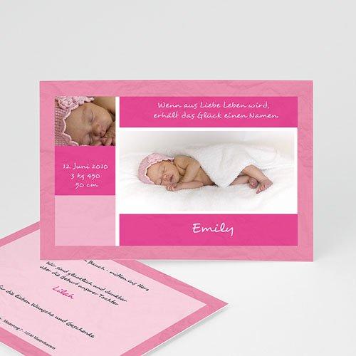 Archivieren - Babykarte Rosa 8027